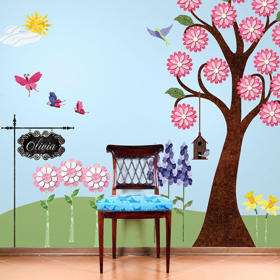 Flower wall sticker main
