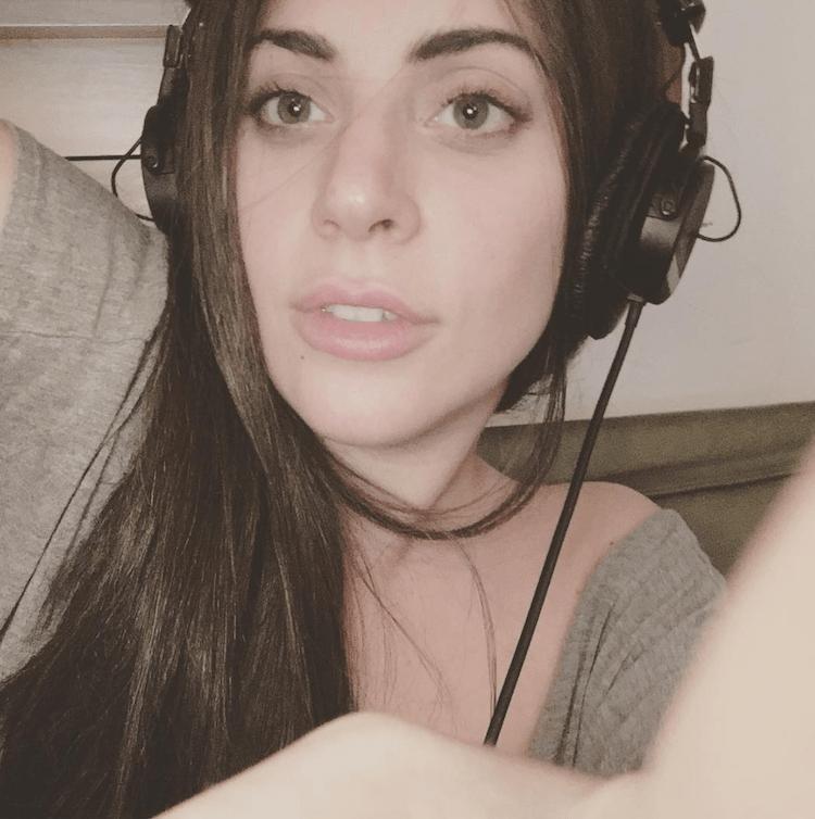 lady gaga natural hair selfie