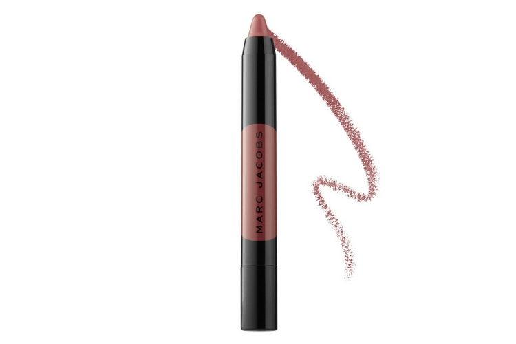lady gaga no makeup marc jacobs lip crayon