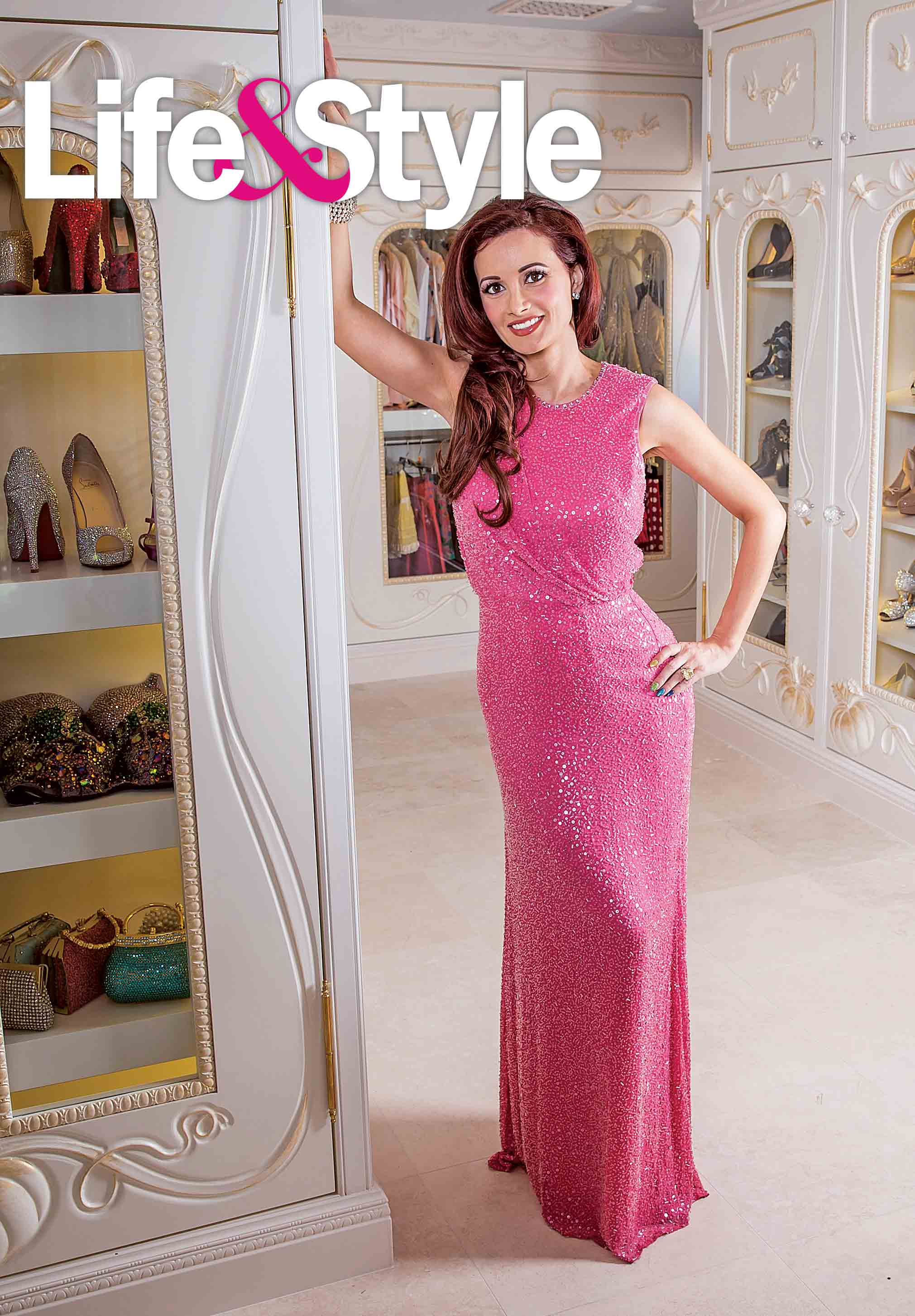 3dec583b1842e EXCLUSIVE INTERVIEW & PHOTO SHOOTInside Holly Madison's 500-Square-Foot  Cinderella-Inspired Closet