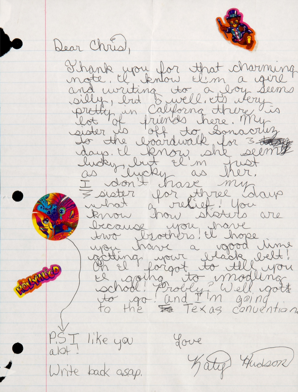 katy perry love letter