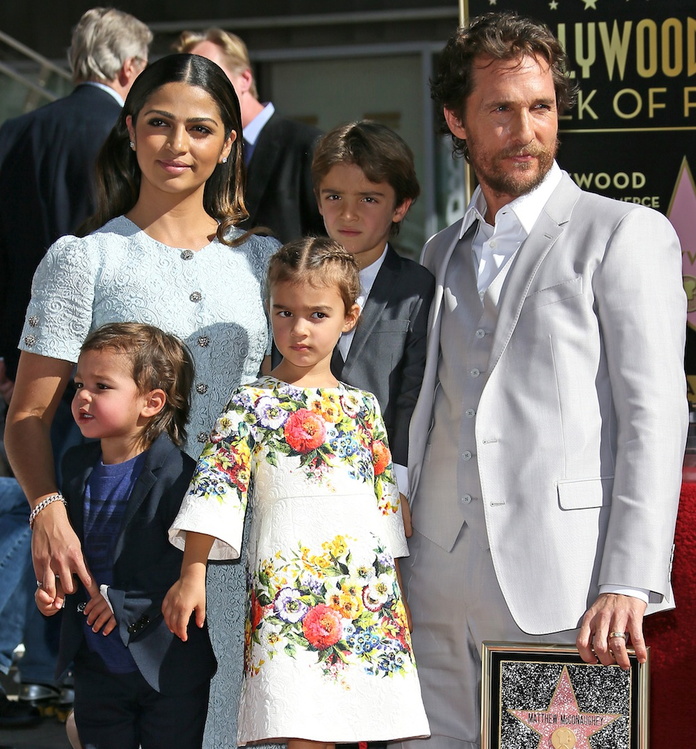 Matthew Mcconaughey And Camila Alves Step Out With Their