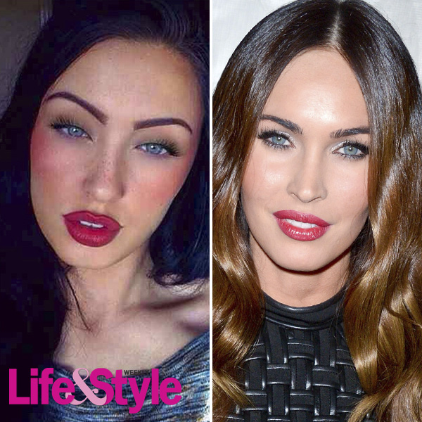 megan fox twin lookalike