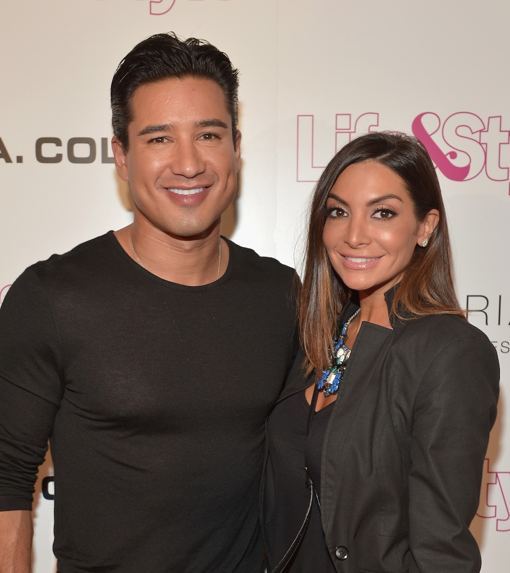 Courtney And Mario Lopez