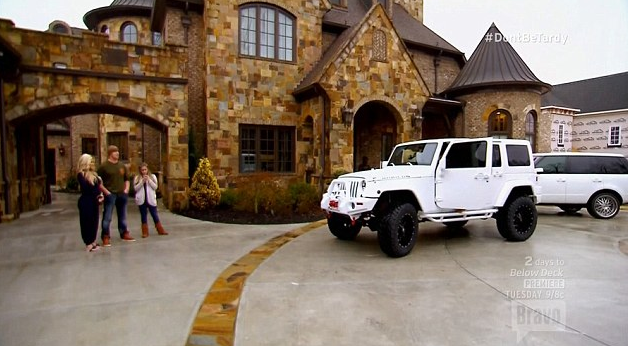 kim zolciak daughter's jeep