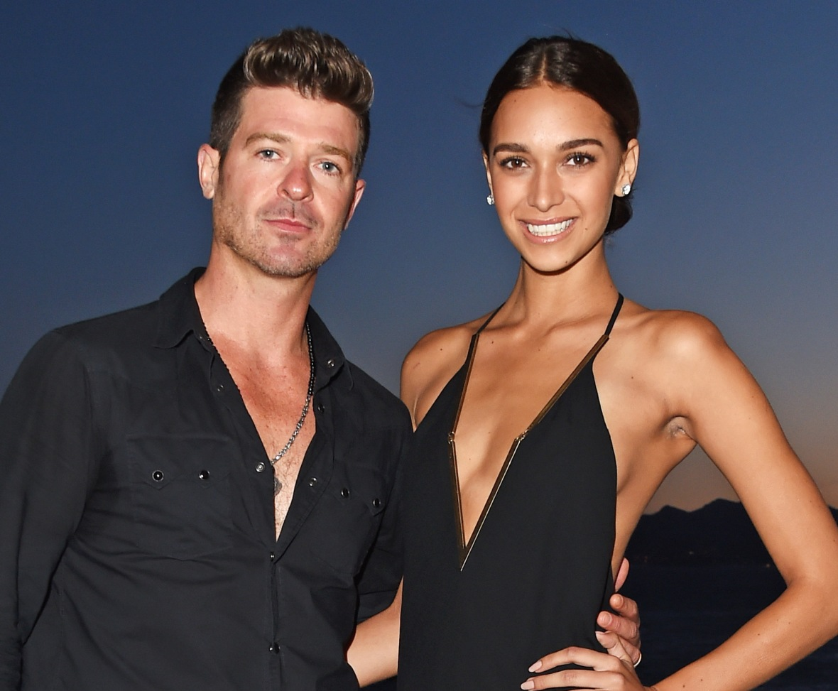 robin thicke and girlfriend april