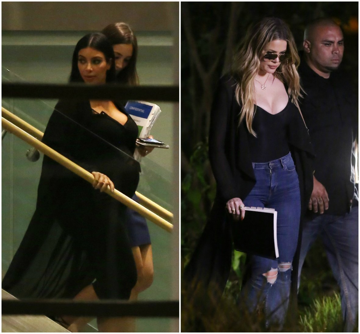 kim and khloe kardashian meet plast surgeon
