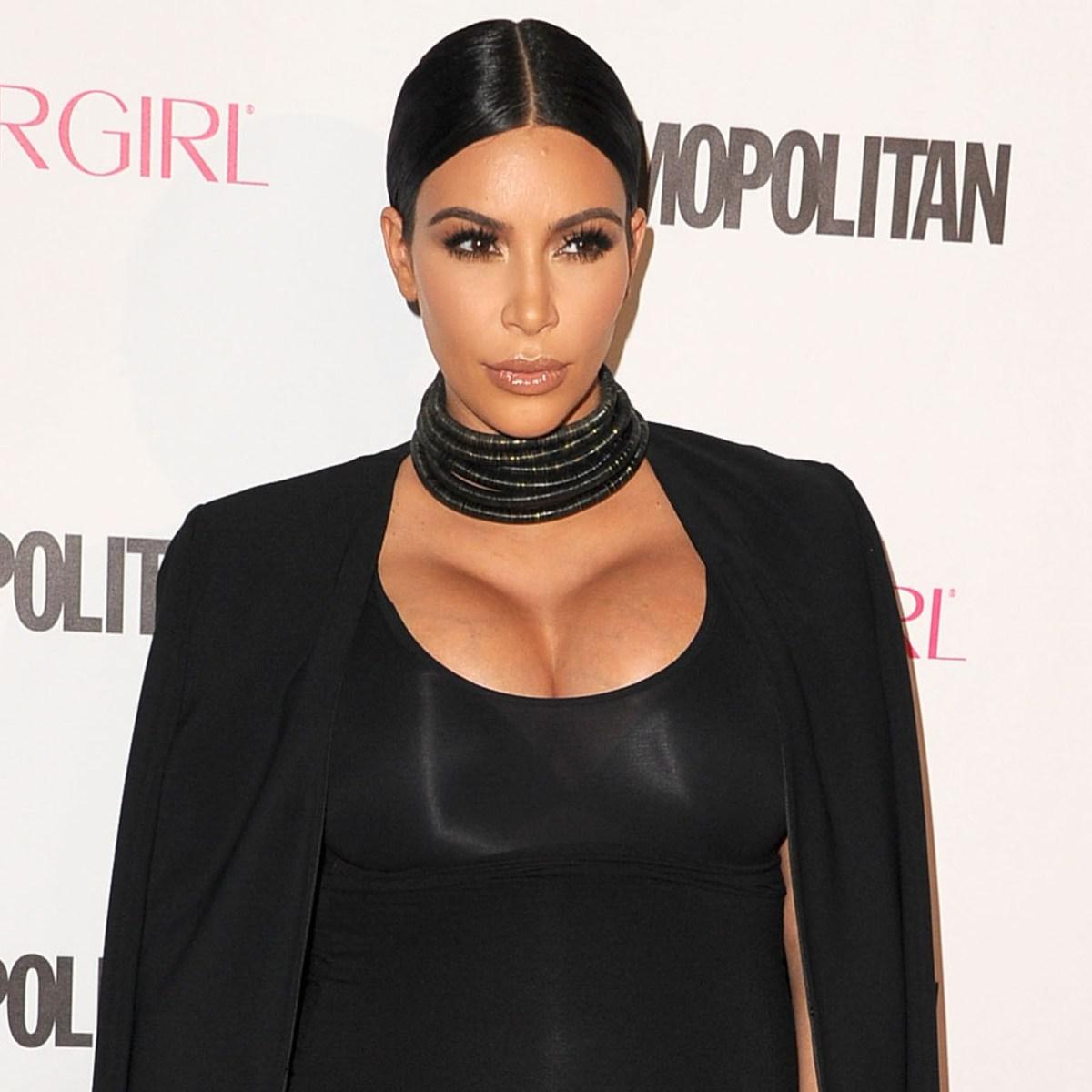 Kim Kardashian Flaunts Massive Pregnancy Boobs in New Instagram Photo -  Life & Style