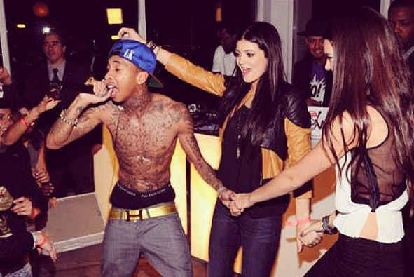 2dd597dd7c39 Tyga performed at Kendall's Sweet 16 party in Nov. 2011, and that's when  Kylie, who was 14 at the time, first met him.