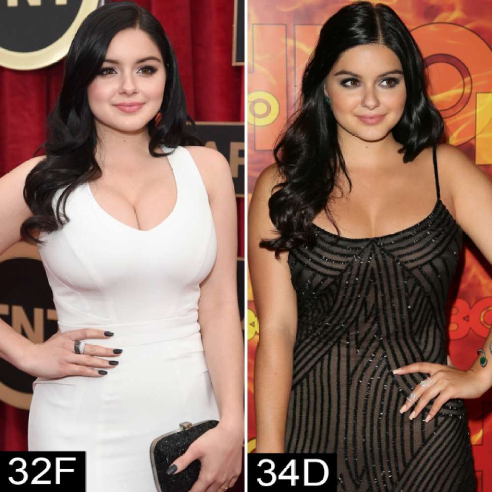 Ariel Winter Drew Barrymore And More Stars Who Have Had Breast Reductions See Their Before And After Pics Life Style