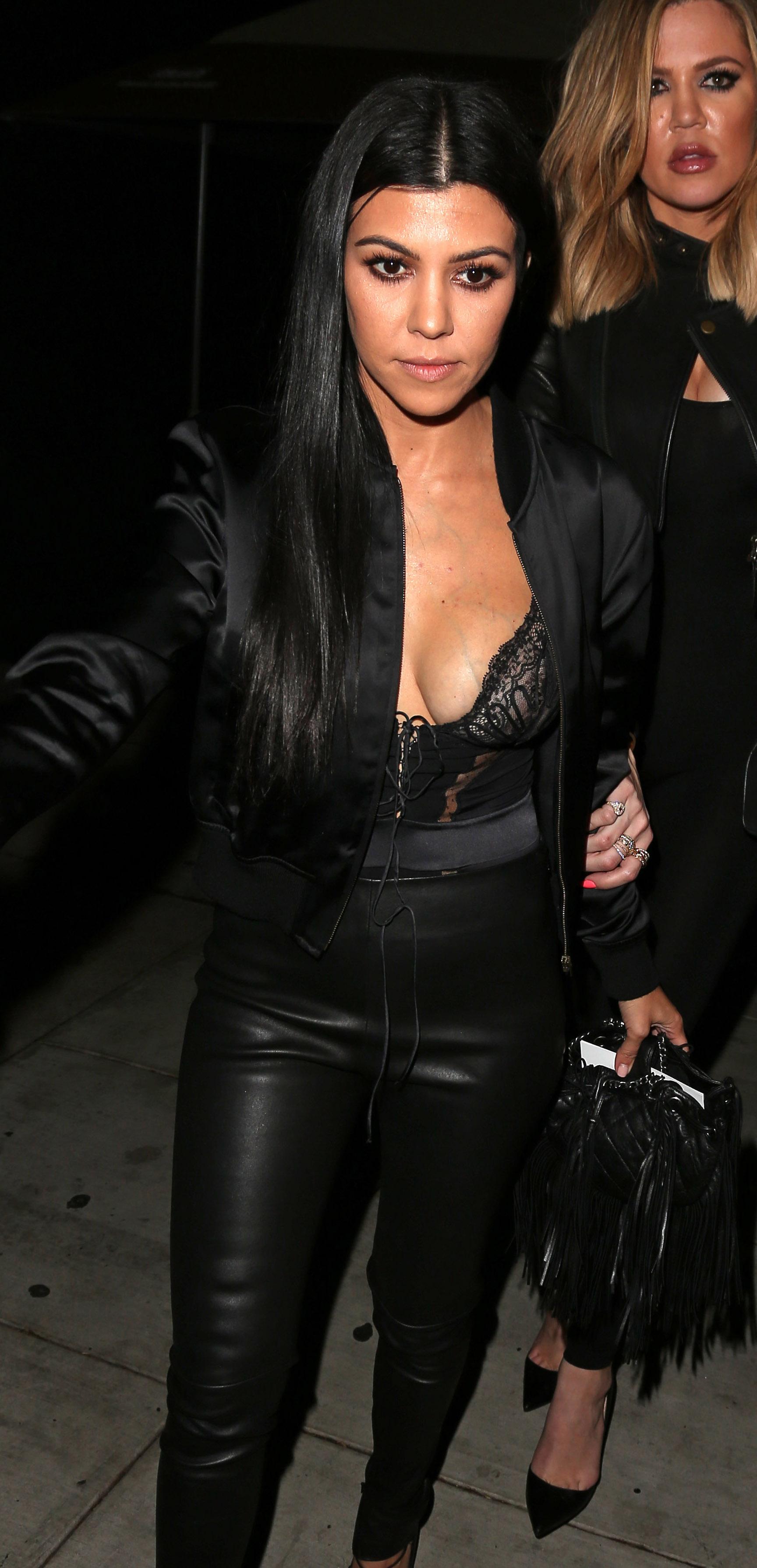 Kourtney Kardashian Shows Off Major Cleavage in Sheer Top ...