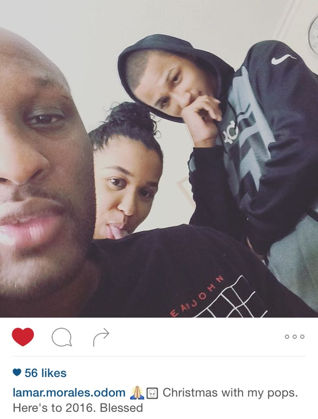lamar odom and kids first pic instagram