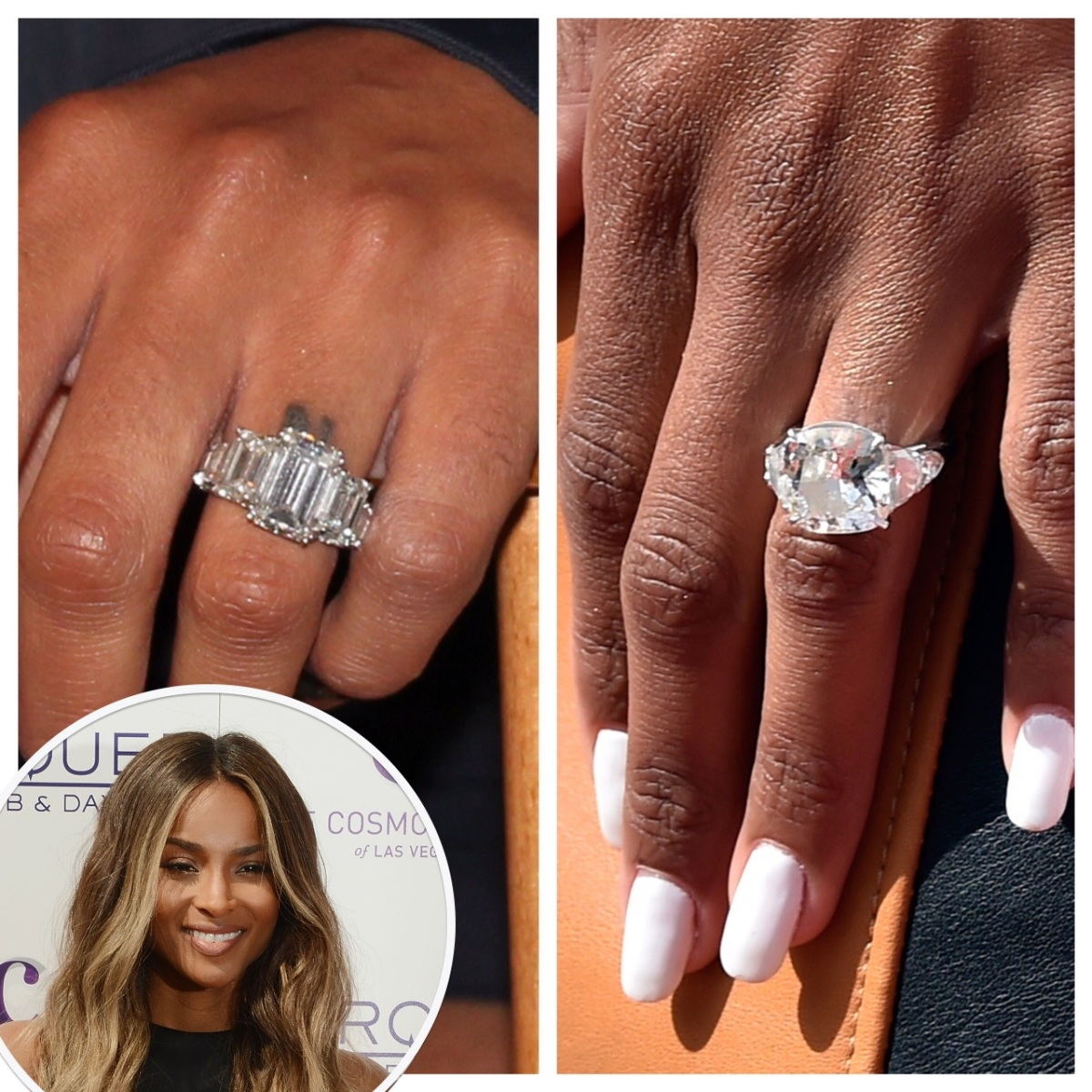 Ciara Shows Off Her Mive 16 Carat Engagement Ring From Rus Wilson On The Red Carpet Life Style