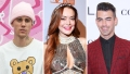 Justin Bieber, Lindsay Lohan and Joe Jonas