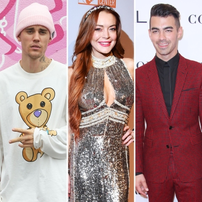 Justin Bieber, Lindsay Lohan and Joe Jonas