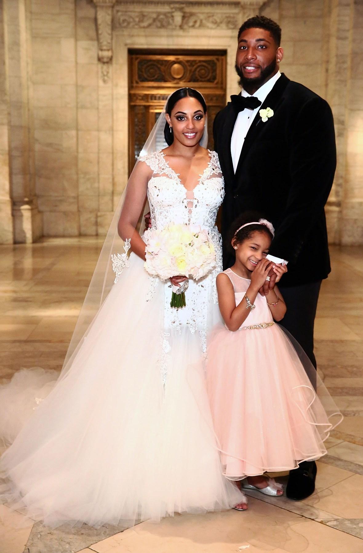 devon still asha joyce wedding with daughter leah getty 2016