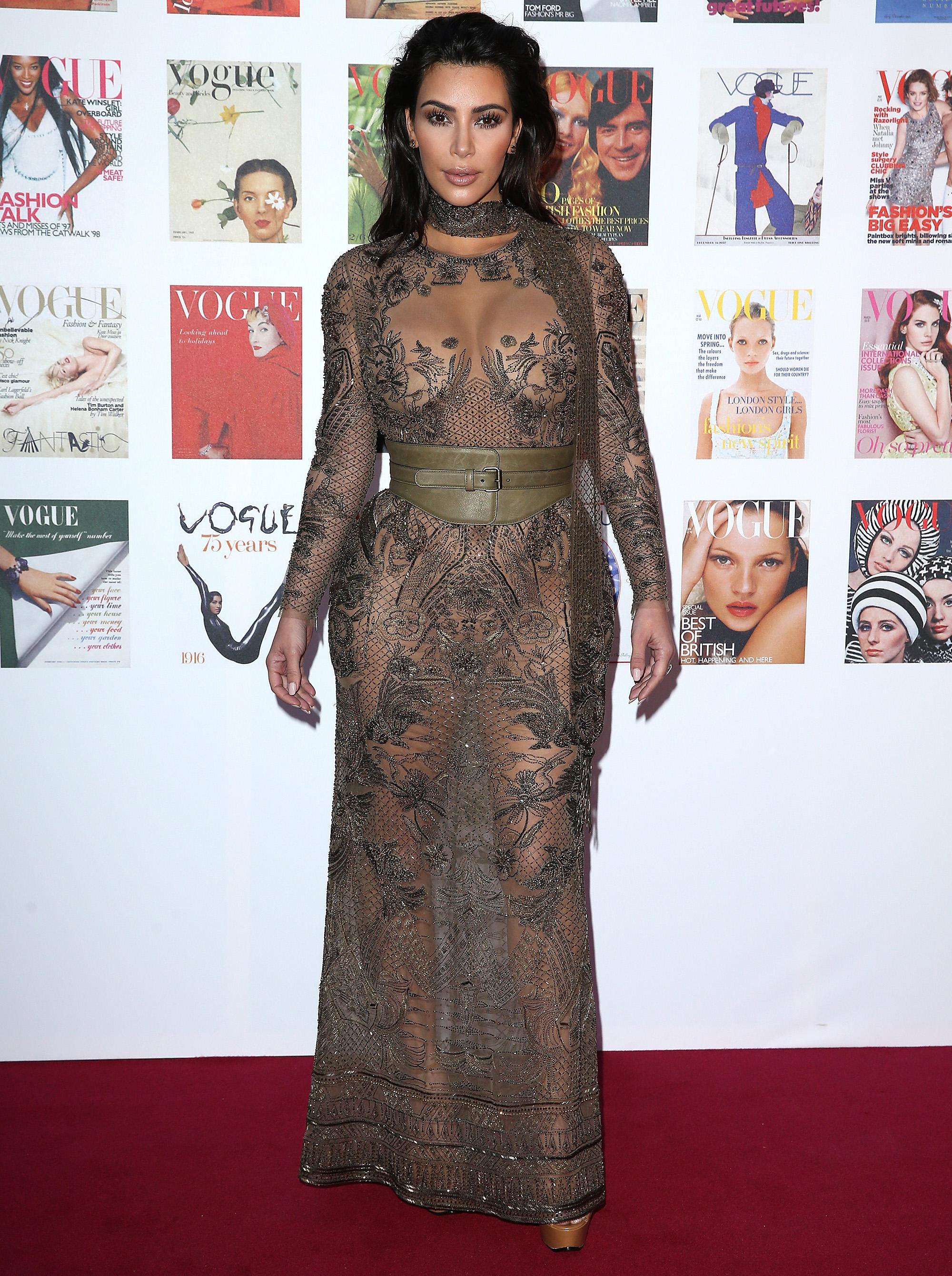 Celebrity Transparent Dress