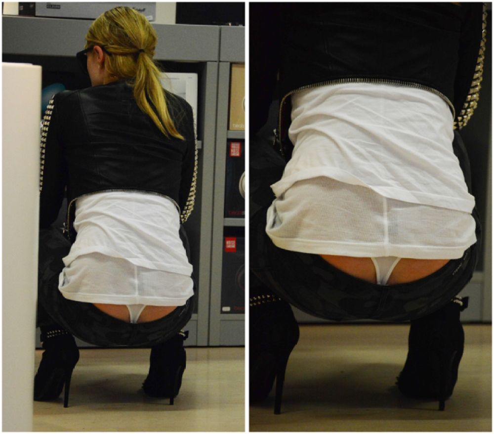 Paris Hilton Suffers Wardrobe Malfunction Flashes Thong In Front Of The Paparazzi Life Style