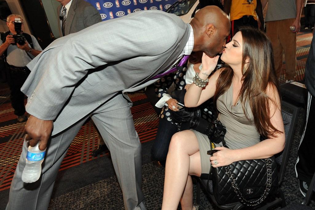 Lamar Odom Kissing Khloe Kardashian