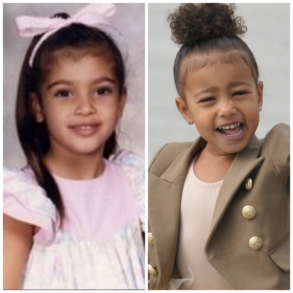 9f3238e9a498d 7 Times North and Saint West Looked Just Like Their Famous Mom Kim ...
