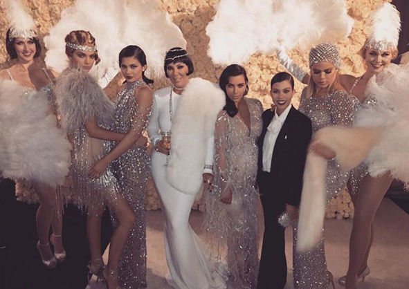 kris jenner and daughters at her 60th bash