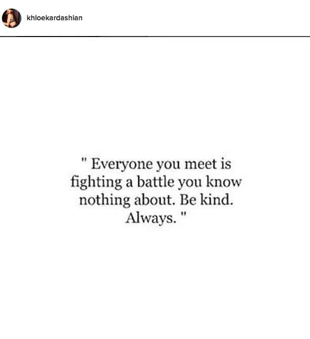 See Khloé Kardashians Most Inspirational Quotes On Instagram