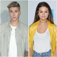 A side by side Justin Bieber and Selena Gomez