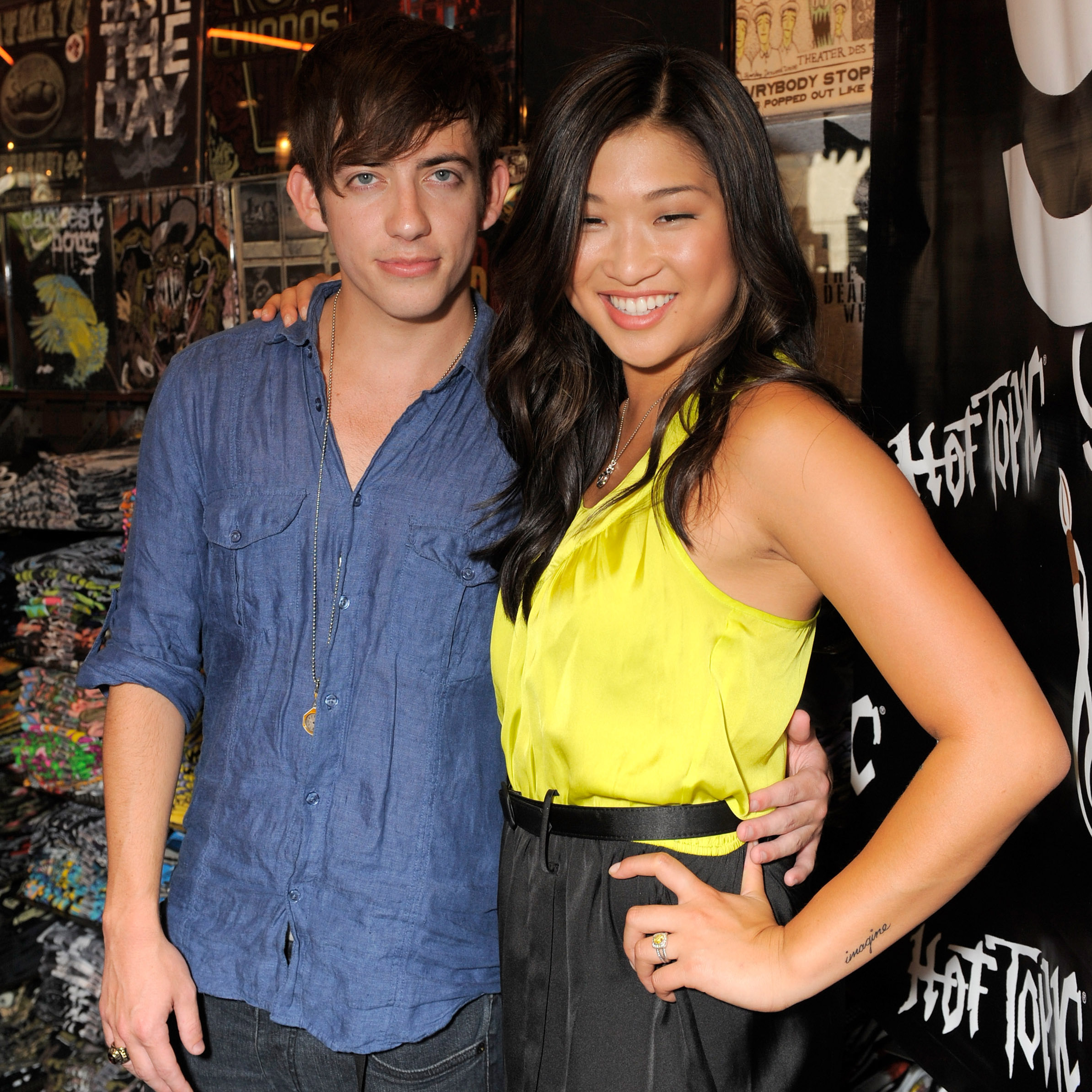 glee jenna and kevin dating