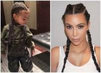 kim-kardashian-north-west-matching