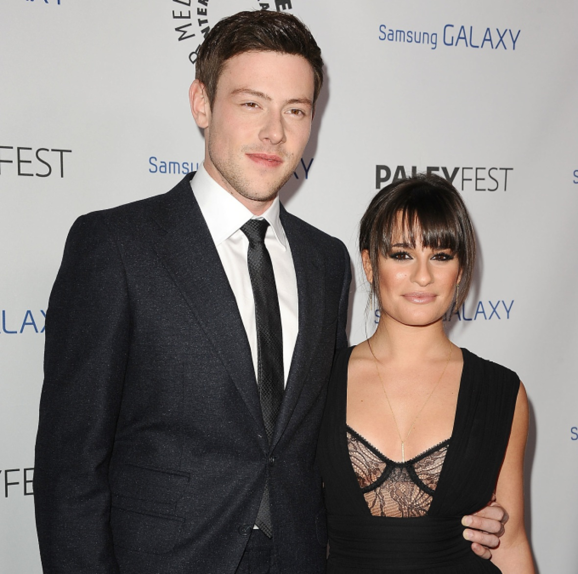 lea michele cory monteith getty images