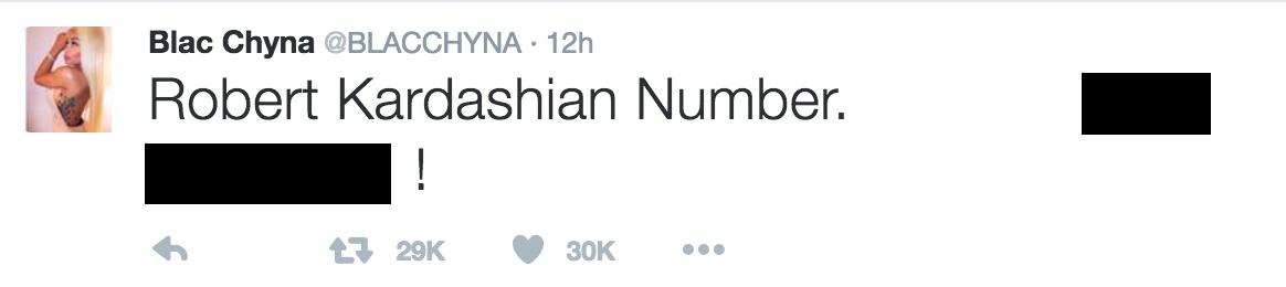 rob kardashian phone number twitter