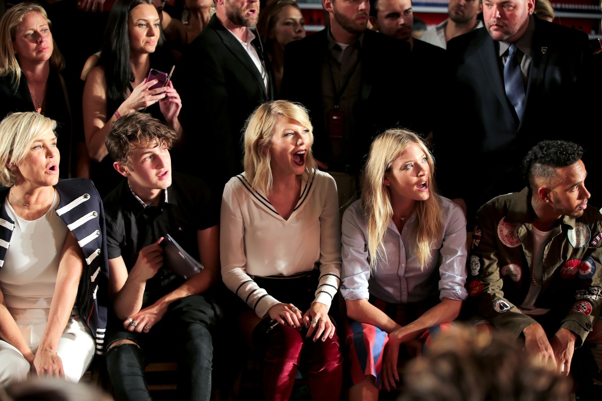 taylor swift tommy hilfiger show