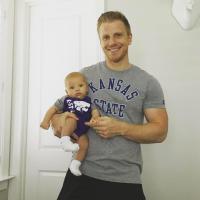Sean Lowe Holds Baby Samuel
