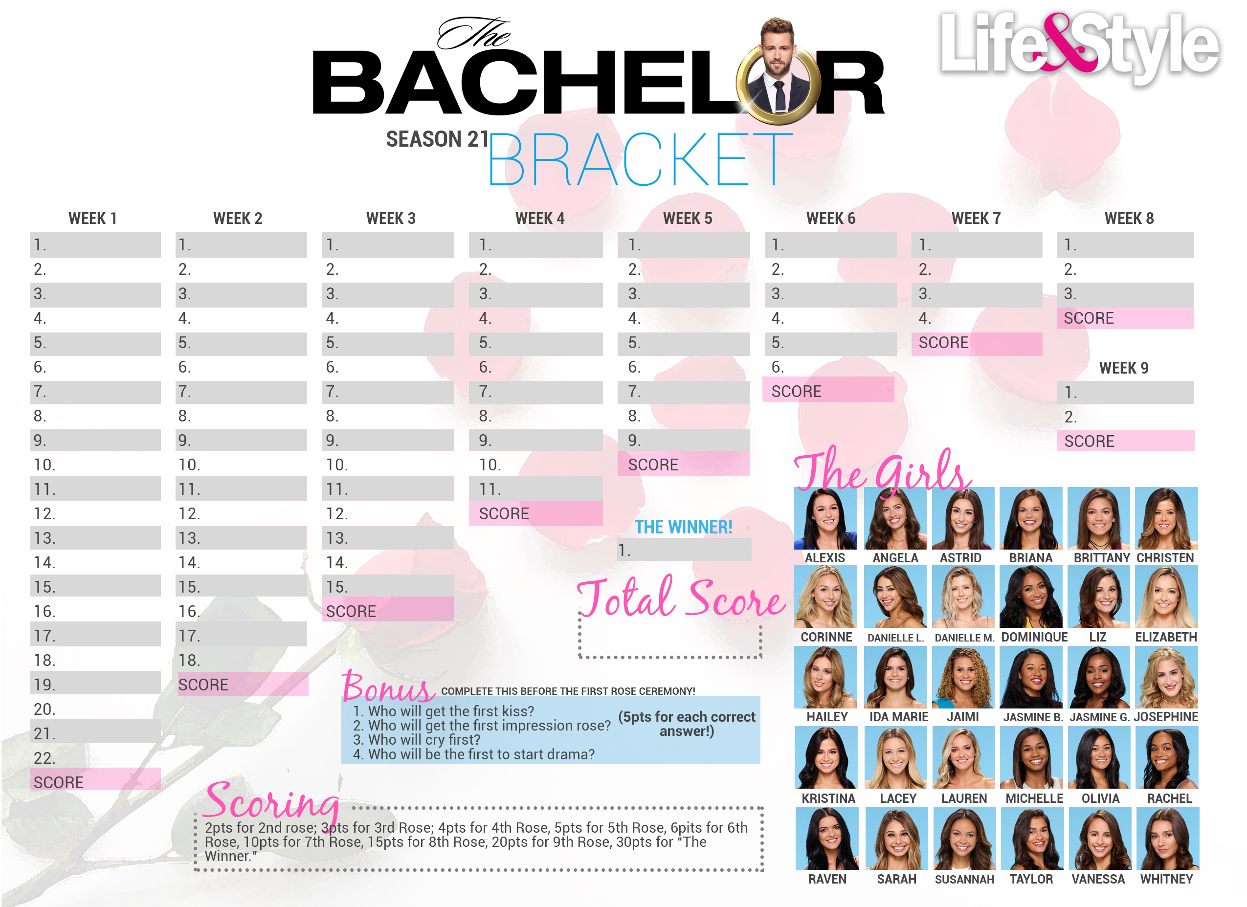 graphic relating to Bachelor Bracket Printable Nick referred to as Get hold of Your Bachelor Bracket In advance of the Premiere Previously! - Lifetime