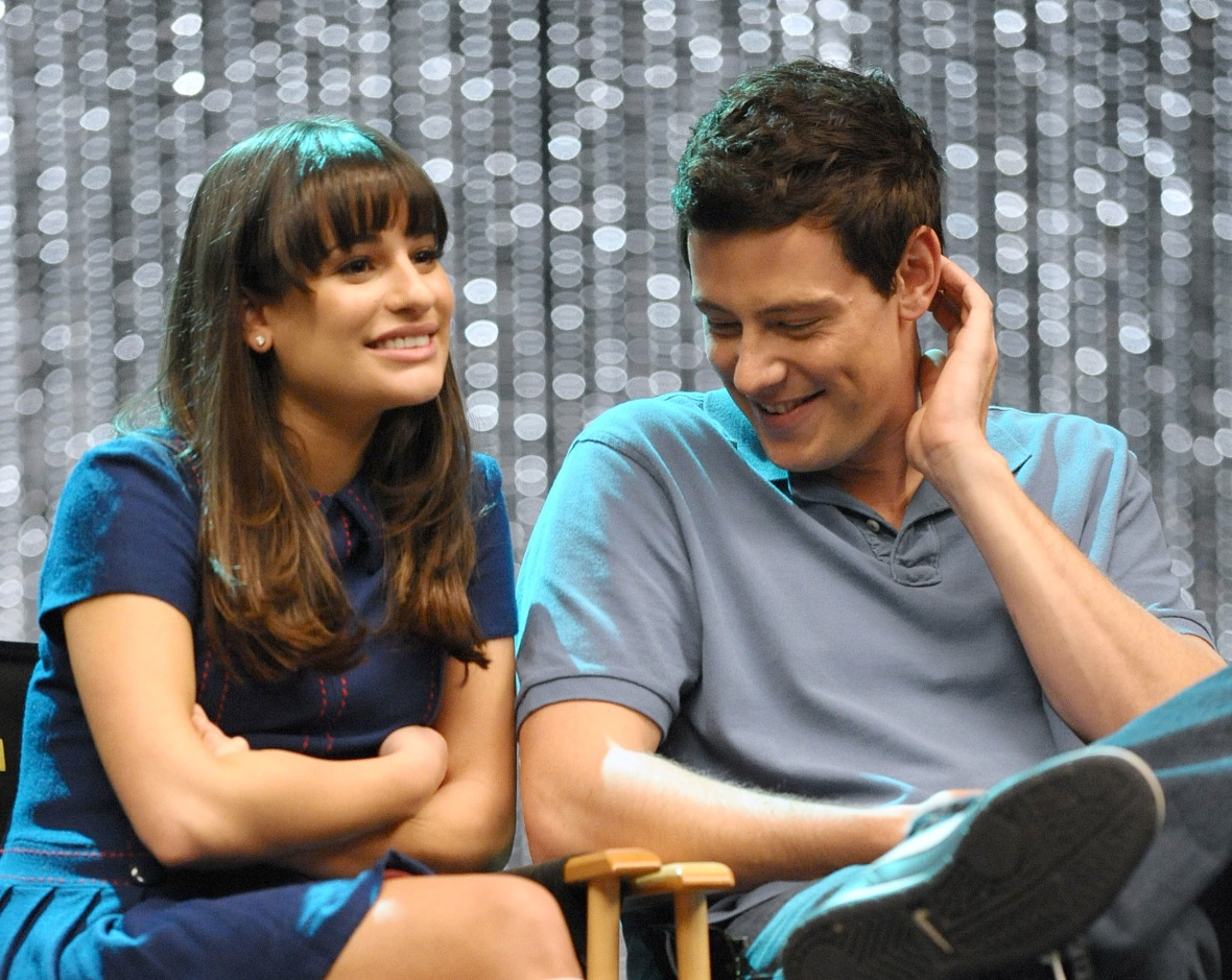 cory monteith lea michele getty images