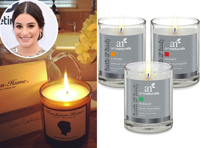 lea michele candles