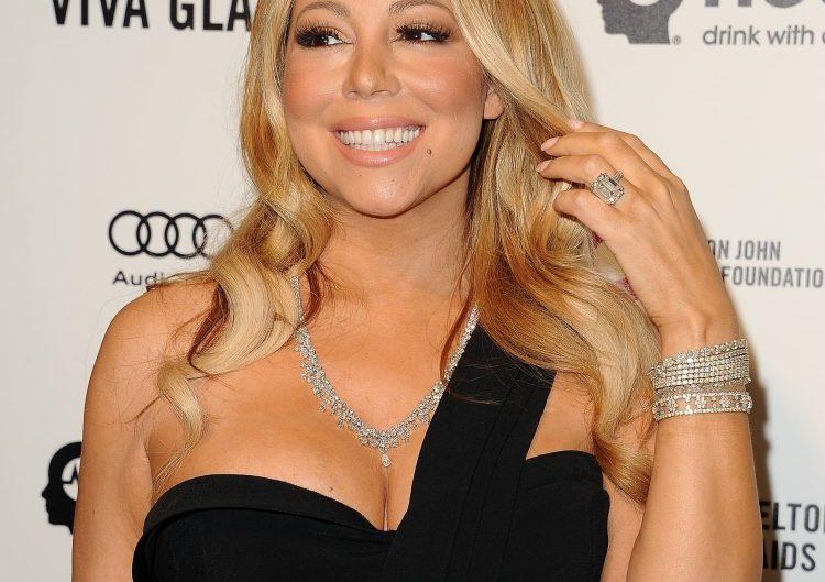 Mariah Carey on a red carpet