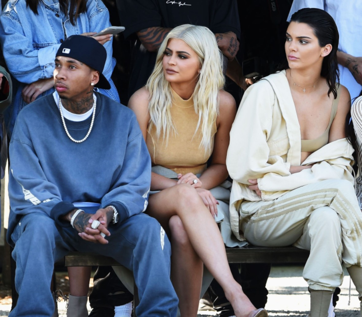 tyga kendall jenner kylie jenner getty images