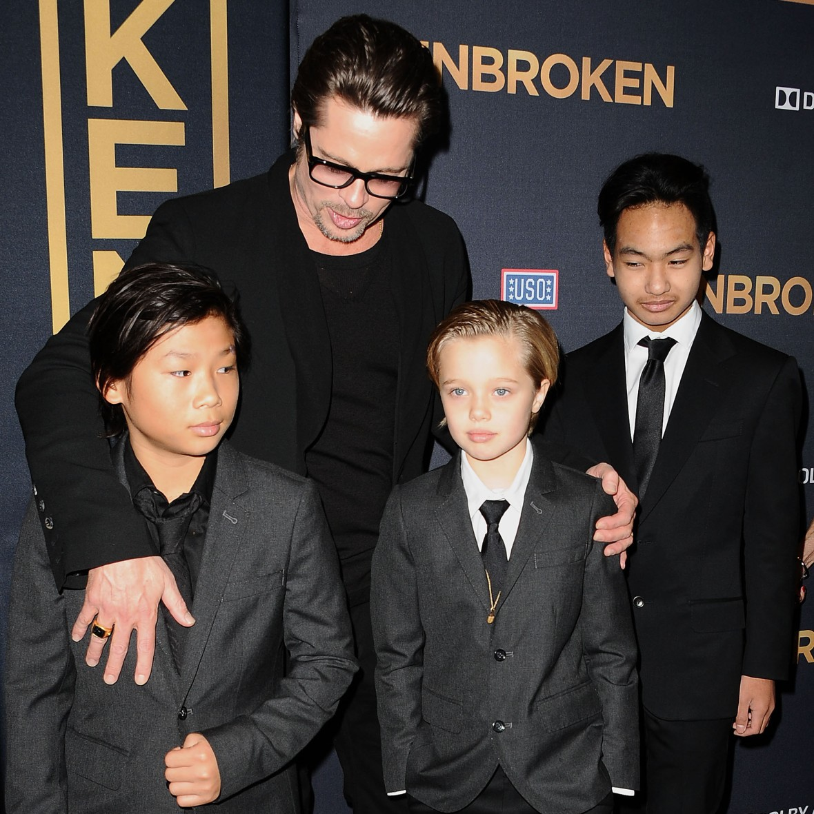 brad pitt kids getty images
