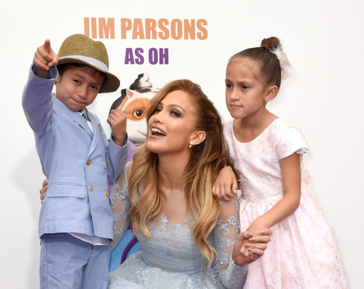 jennifer lopez twins max emme getty images