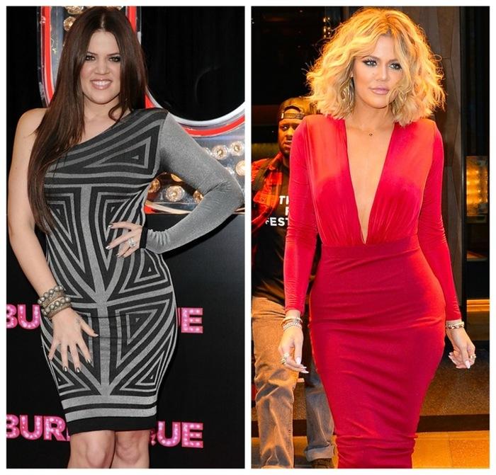 khloe kardashian weight loss 2010-2016 getty images