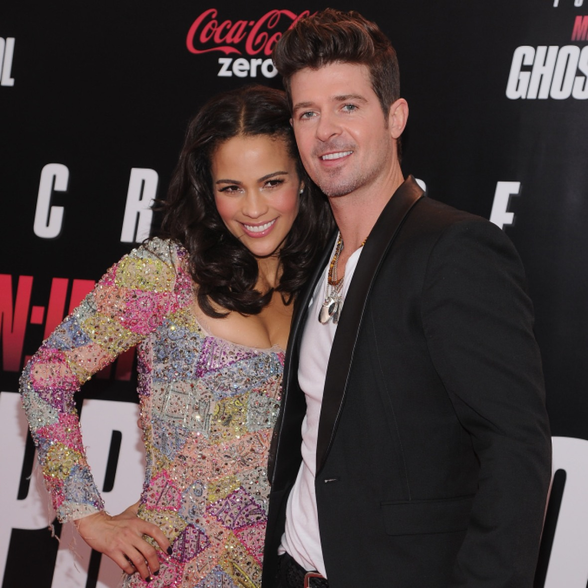 robin thicke paula patton getty images