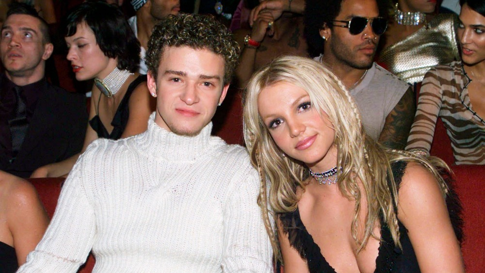 Britney Spears and Justin Timberlake show some PDA