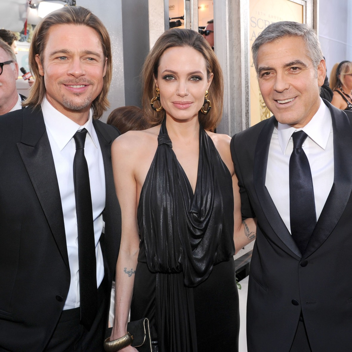 george clooney brad pitt angelina jolie getty images