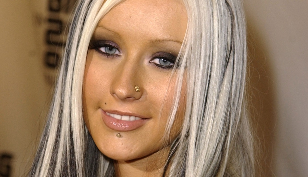 Celebrity Face Piercings You Forgot About Christina Aguilera