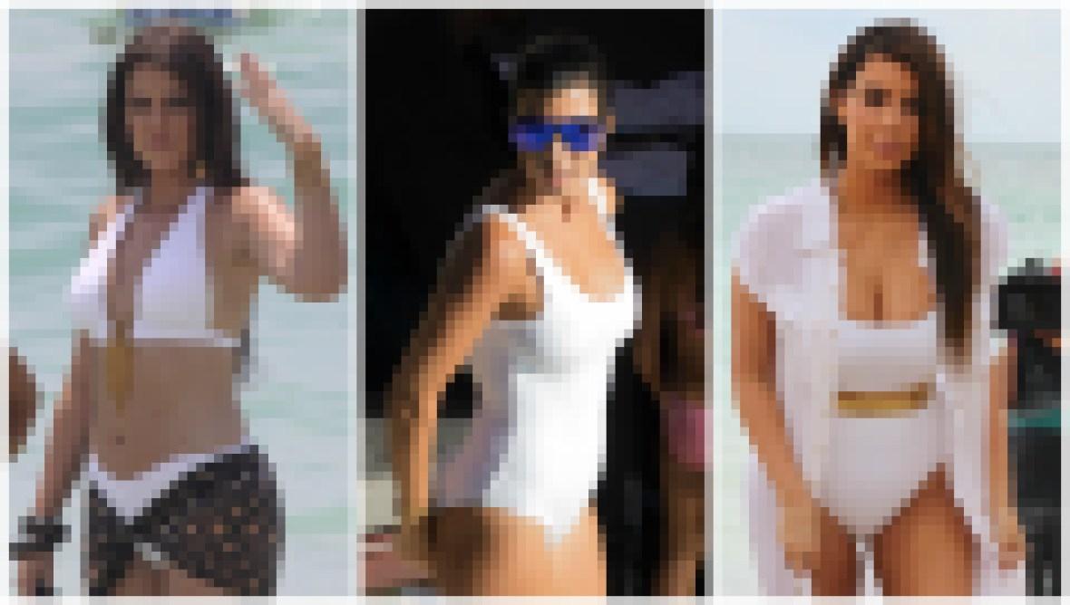 khloe-kourtney-kim-white-swimsuits
