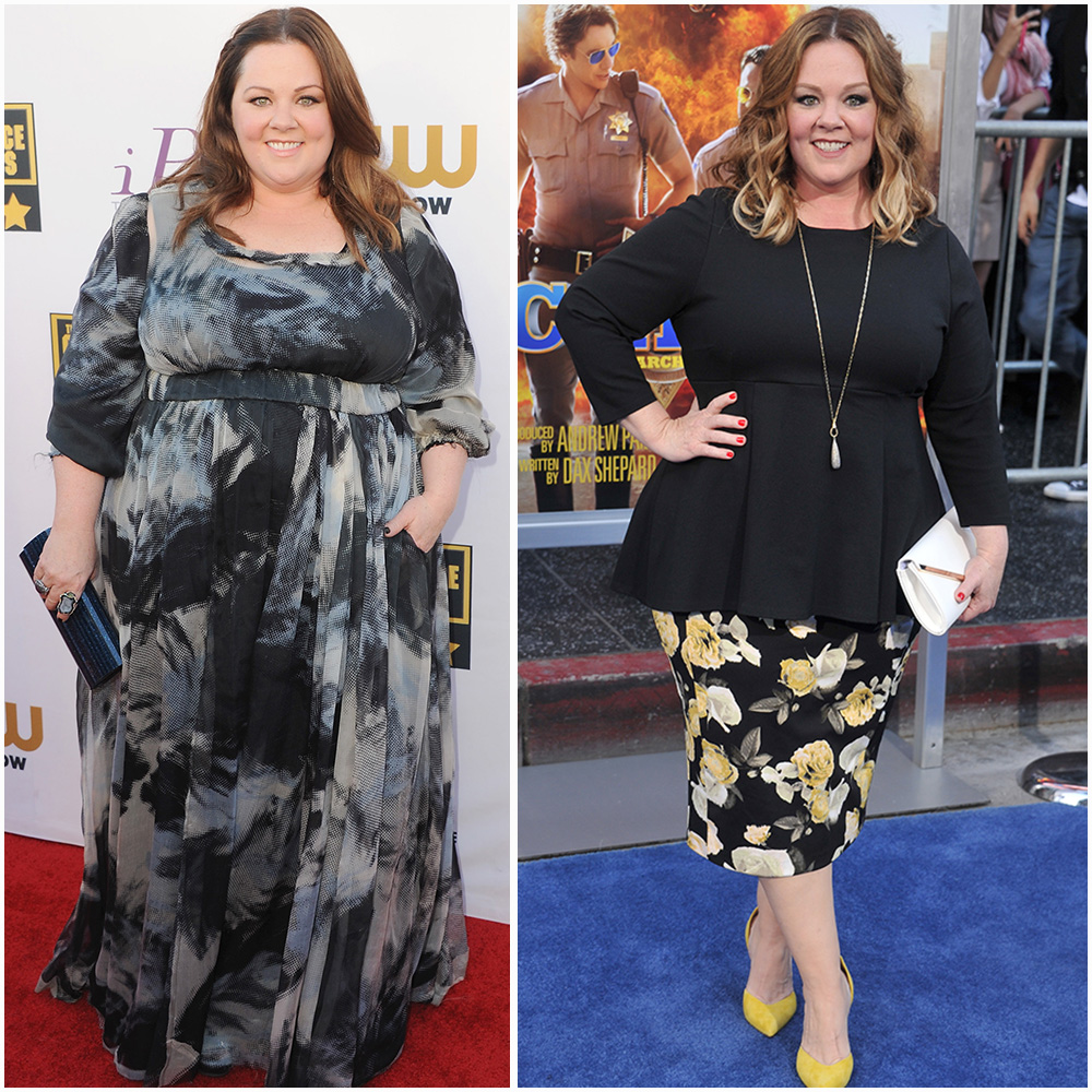 melissa mccarthy 2014 vs. 2017 getty images