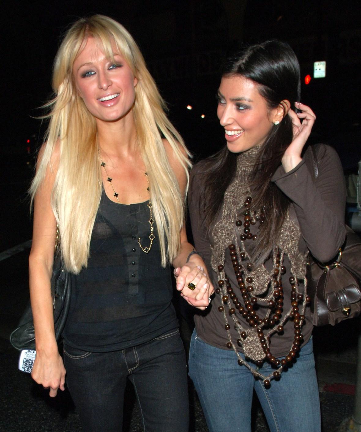 paris hilton and kim kardashian l.a. 2007 getty