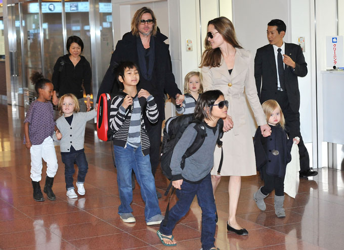 brad pitt and angelina jolie kids getty images