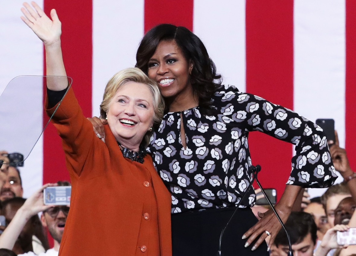 hillary clinton michelle obama getty images